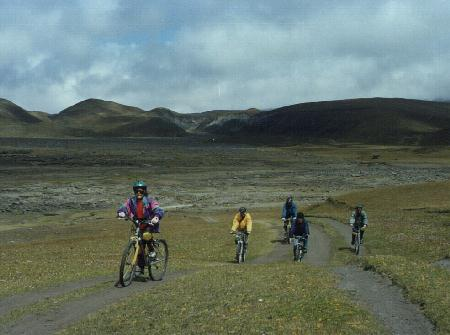 Biking in the paramo