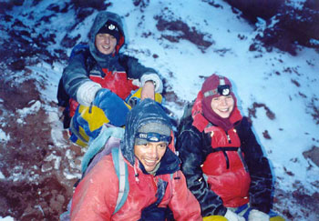 Resting at the Cotopaxi Glacier