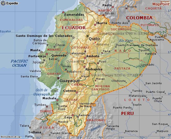 Ecuador Galapagos Ekuador Ecuaworld Karte Von Ecuador